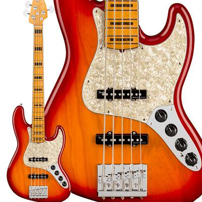 Fender American Ultra Jazz Bass V Maple Fingerboard Plasma Red Burst ジャズベース 【フェンダー】