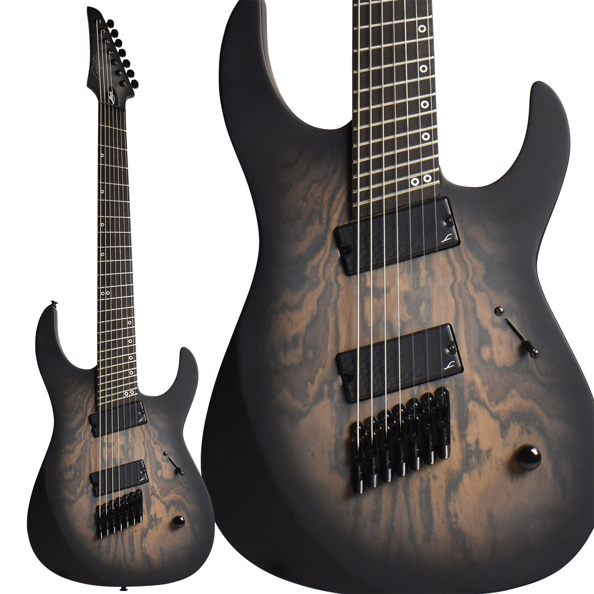 Legator Performance Series NINJA Fanned 7 Bocote Top Black Burst 7弦ギター マルチスケール 【レガター NRF7P】