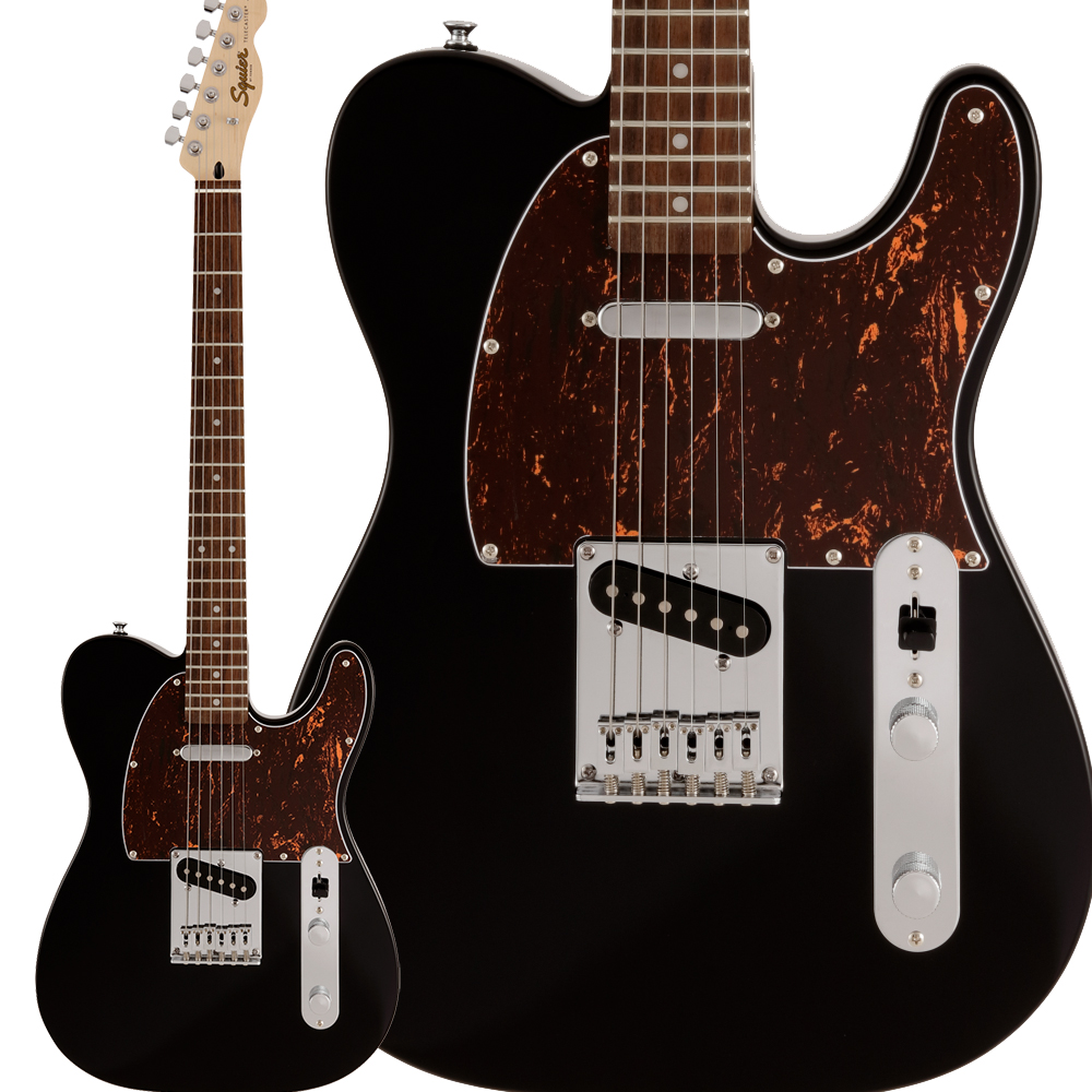FENDER SQUIER TELE TELECASTER ALDER BODY BLACK AFFINITY ELECTRIC GUITAR