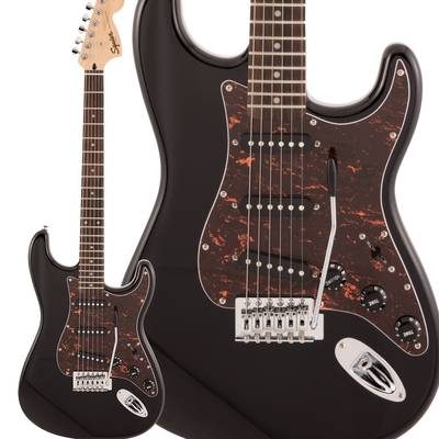 Squier by Fender FSR Affinity Series Stratocaster Laurel Fingerboard Black with Tortoiseshell Pickguard エレキギター ストラトキャスター 【スクワイヤー / スクワイア】【数量限定】