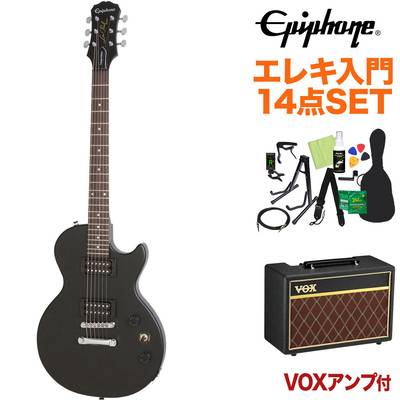 Epiphone Les Paul Special VE Vintage Worn Ebony エレキギター 初心者14点セット VOXアンプ付き レスポール 【エピフォン】