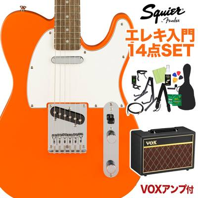 Squier by Fender Affinity Series Telecaster Laurel Fingerboard Competition エレキギター 初心者14点セット 【VOXアンプ付き】 テレキャスター 【スクワイヤー / スクワイア】