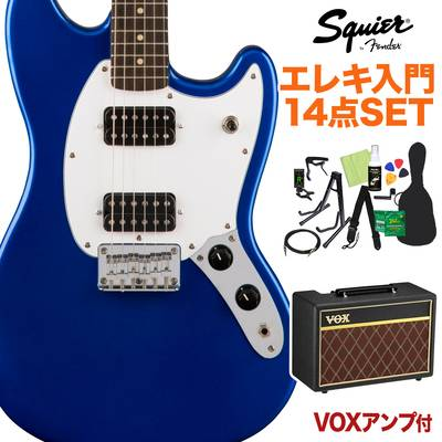 Squier by Fender Bullet Mustang HH Laurel Fingerboard Imperial Blue エレキギター 初心者14点セット 【VOXアンプ付き】 ムスタング 【スクワイヤー / スクワイア】