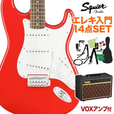 Squier by Fender Affinity Series Stratocaster Laurel Fingerboard Race Red エレキギター 初心者14点セット 【VOXアンプ付き】 ストラトキャスター 【スクワイヤー / スクワイア】