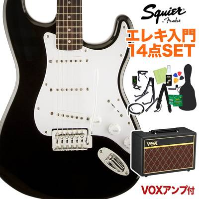 Squier by Fender Bullet Strat with Tremolo Laurel Fingerboard Black 初心者14点セット 【VOXアンプ付き】 エレキギター ストラトキャスター 【スクワイヤー / スクワイア】