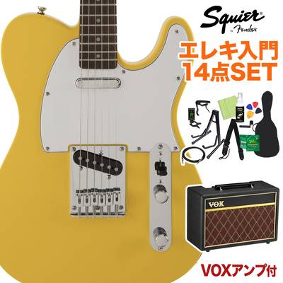 Squier by Fender FSR Affinity SeriesTelecaster Laurel Fingerboard Graffiti Yellow 初心者14点セット 【VOXアンプ付き】 エレキギター テレキャスター 【スクワイヤー / スクワイア】