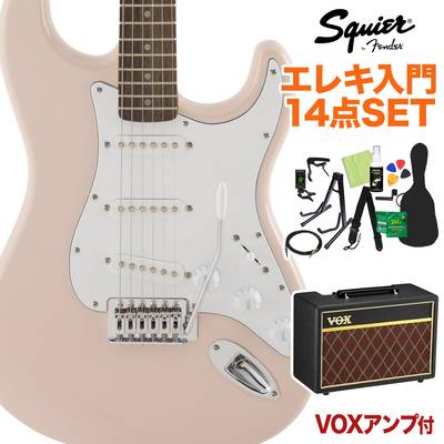 Squier by Fender FSR Affinity SeriesStratocaster Laurel Fingerboard Shell Pink 初心者14点セット 【VOXアンプ付き】 エレキギター ストラトキャスター 【スクワイヤー / スクワイア】