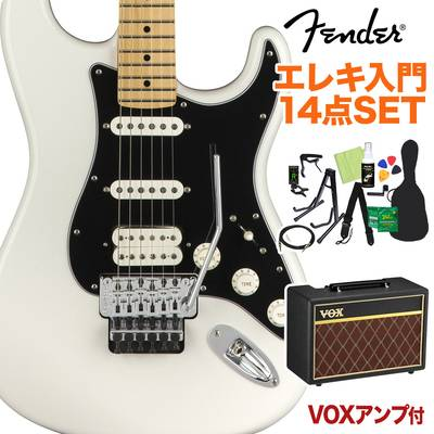 Fender Player Stratocaster with Floyd Rose Maple Fingerboard Polar White 初心者14点セット 【VOXアンプ付き】 ストラトキャスター 【フェンダー】