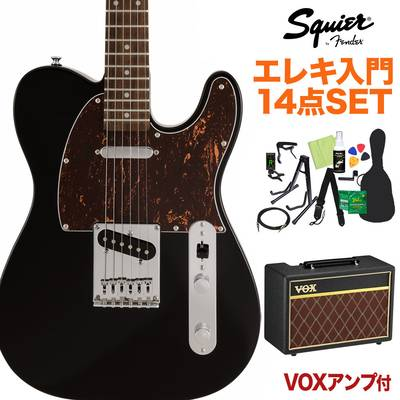 Squier by Fender FSR Affinity Series Telecaster Laurel Fingerboard Black with Tortoiseshell Pickguard エレキギター初心者14点セット 【VOXアンプ付き】 テレキャスター 【スクワイヤー / スクワイア】