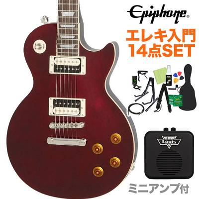 Epiphone Les Paul Traditional PRO-III Wine Red エレキギター 初心者14点セット【ミニアンプ付き】 レスポール 【エピフォン】