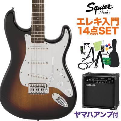 Squier by Fender FSR Affinity Series Stratocaster Laurel Fingerboard 3-Color Sunburst エレキギター 初心者14点セット【ヤマハアンプ付き】 ストラトキャスター【数量限定】 【スクワイヤー / スクワイア】