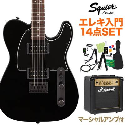 Squier by Fender FSR Affinity Series Telecaster HH Laurel Fingerboard Metallic Black with Matching Headstock and Black Hardware エレキギター初心者14点セット【マーシャルアンプ付き】 テレキャスター【島村楽器限定】 【スクワイヤー / スクワイア】