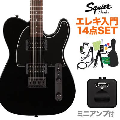 Squier by Fender FSR Affinity Series Telecaster HH Laurel Fingerboard Metallic Black with Matching Headstock and Black Hardware エレキギター初心者14点セット 【ミニアンプ付き】 テレキャスター【島村楽器限定】 【スクワイヤー / スクワイア】