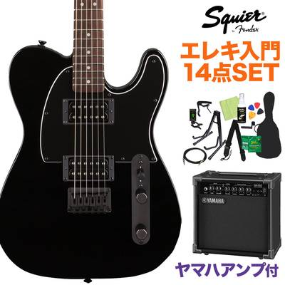 Squier by Fender FSR Affinity Series Telecaster HH Laurel Fingerboard Metallic Black with Matching Headstock and Black Hardware エレキギター初心者14点セット 【ヤマハアンプ付き】 テレキャスター【島村楽器限定】 【スクワイヤー / スクワイア】