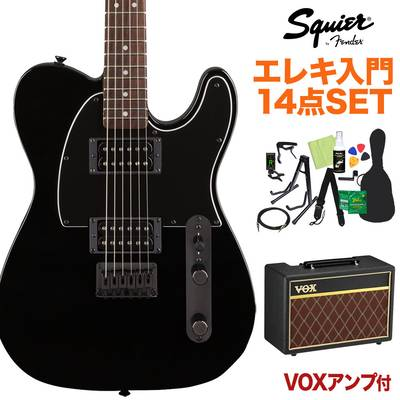 Squier by Fender FSR Affinity Series Telecaster HH Laurel Fingerboard Metallic Black with Matching Headstock and Black Hardware エレキギター初心者14点セット 【VOXアンプ付き】 テレキャスター【島村楽器限定】 【スクワイヤー / スクワイア】