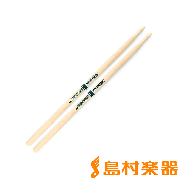 "Promark TXR5AW スティック Hickory 5A ""The Natural"" Wood Tip Drumstick 【プロマーク】"