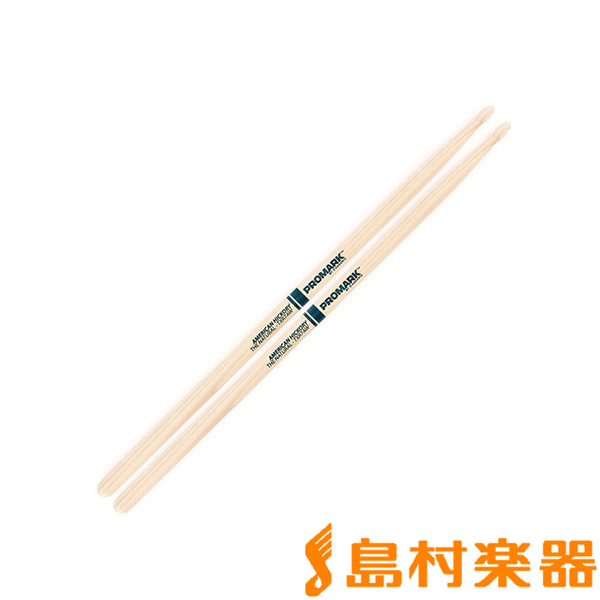 "Promark TXR7AW スティック/Hickory 7A ""The Natural"" Wood Tip Drumstick 【プロマーク】"