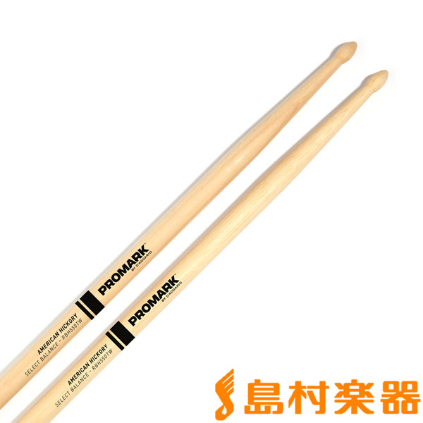 "Promark RBH550TW スティック/Rebound Balance Hickory .550"" Tear Drop Wood Tip 【プロマーク】"