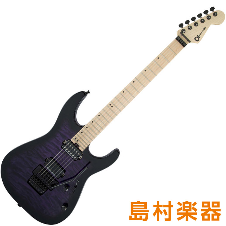 Charvel DinkyDK24 HH FR M QM TRANSPARENT PURPLE BURST エレキギター Pro-Mod Series 【シャーベル】