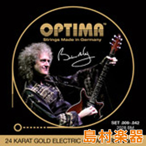 OPTIMA 2028.BM エレキギター弦 E-GUITAR 24K GOLD STRINGS Brian May 009-042 【オプティマ】