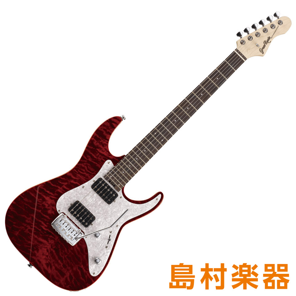GrassRoots G-MR-55R See Thru Red エレキギター 【グラスルーツ】