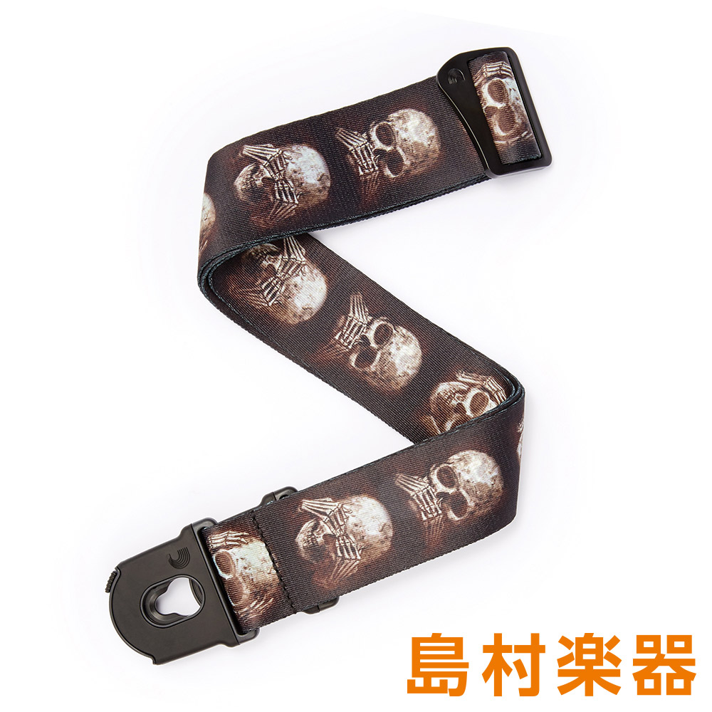D'Addario 50ALP01 Muted Skulls ギターストラップ Alchemy Gothic(licensed) Planet Lock Strap 【ダダリオ】