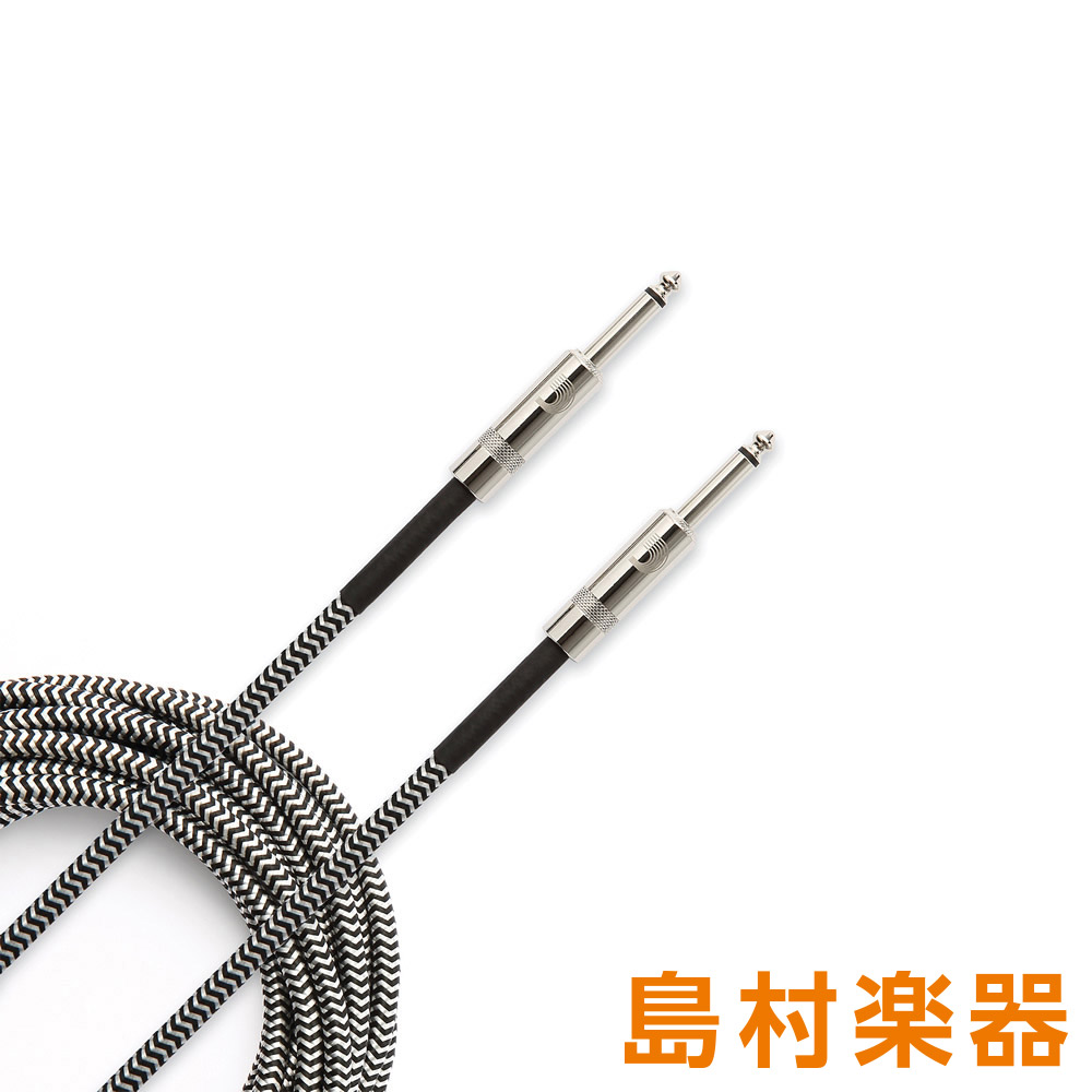 D'Addario PW-BG-10BG Grey, 10' Custom Series Braided Instrument Cables ケーブル 3m 【ダダリオ】