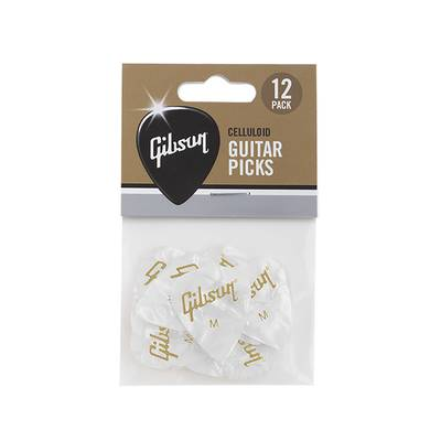 Gibson APRW12-74M White Pearl Picks ピック Medium 12枚入り 【ギブソン 】