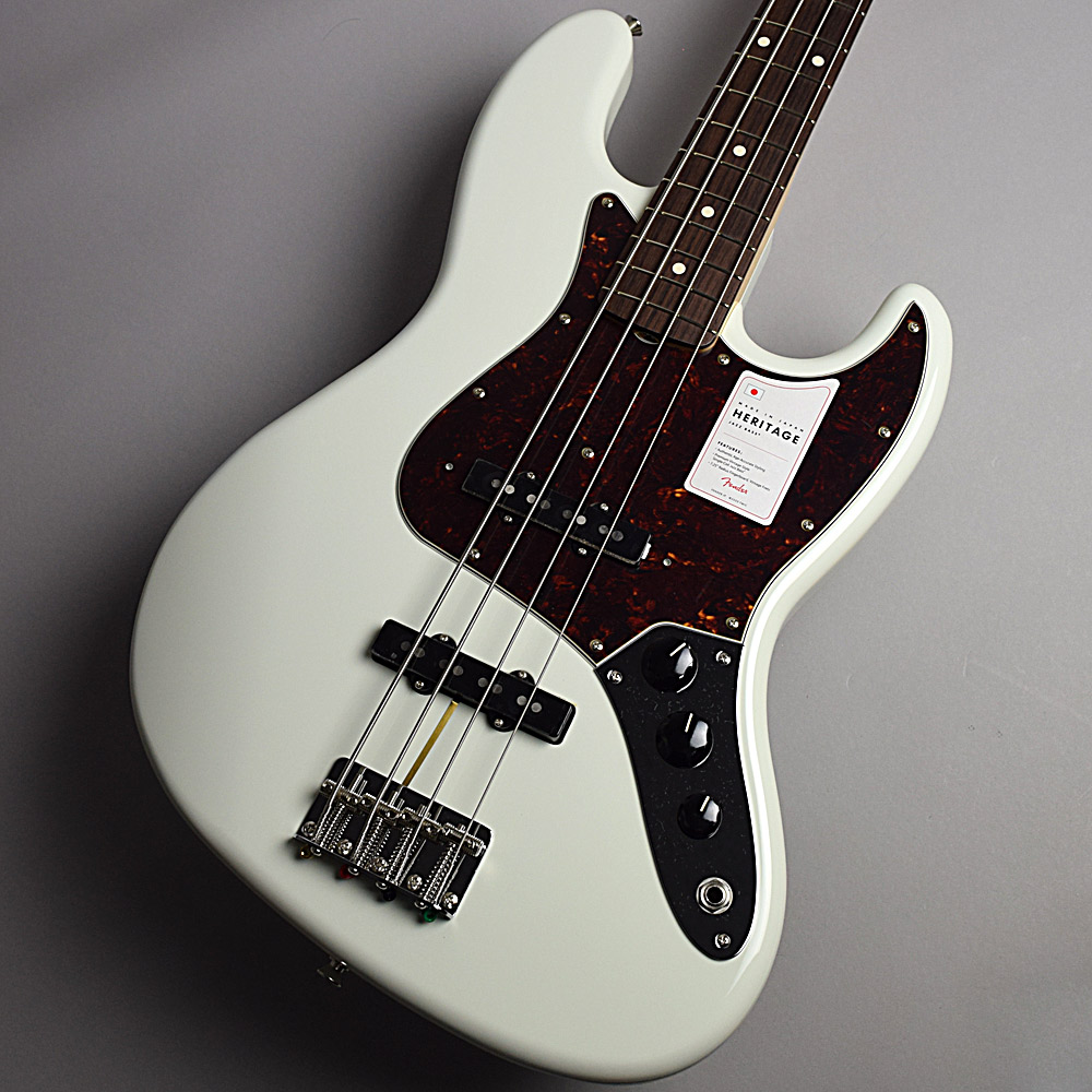 Fender Made In Japan Heritage 60s Jazz Bass Olympic White エレキベース 【フェンダー ヘリテイジ ジャズベース】【未展示品】