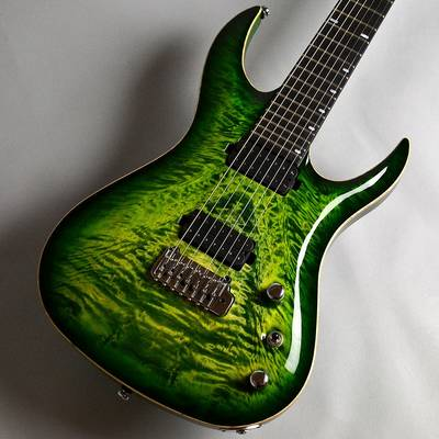 ACACIA Guitars Hades 7 Tremolo Quilted Maple Top / Green burst エレキギター 【アカシアギターズ】【新宿PePe店】